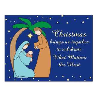Holy Family Nativity Christmas Christian Religious Postcard