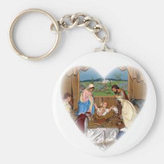 Holy Family: Nativity Scene Keychain