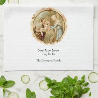 "Holy Family Prayer II Kitchen Towel 16"" x 24"""