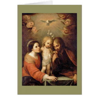 Holy Family - Sacrada Familia Card