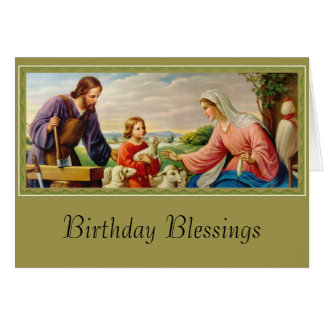HOLY FAMILY St. Joseph, Jesus, Mary Card