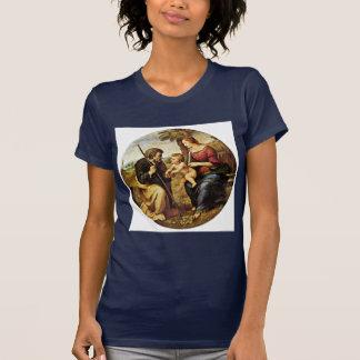 Holy Family Under A Palm Tree Tondo By Raffael T-shirt