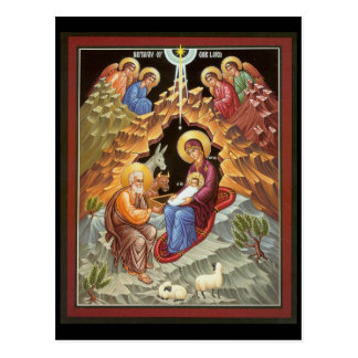 Holy Family Watched by Angels Postcard