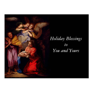 Holy Family with Angels by Coypel Postcard
