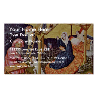 Holy Family With Angels By Mittelrheinischer Meist Business Card Template