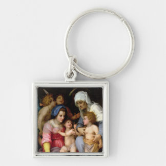 Holy Family with Angels, c.1515-16 (oil on panel) Keychain