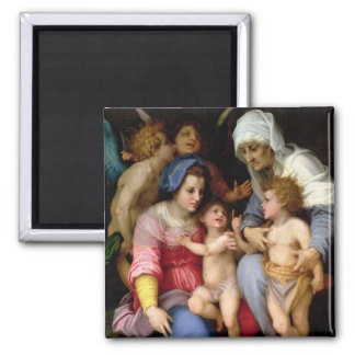 Holy Family with Angels, c.1515-16 (oil on panel) Magnet