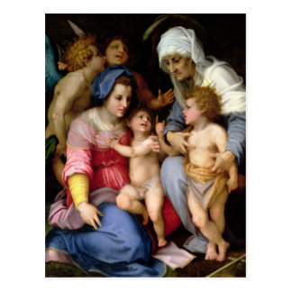 Holy Family with Angels, c.1515-16 (oil on panel) Post Card