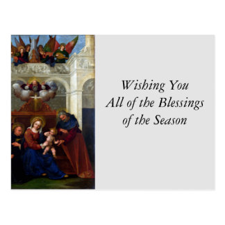Holy Family with Saint Nicholas of Tolentino Postcard
