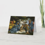 """Holy Family with Saints and Angels Holiday Card<br><div class=""""desc"""">Wooded setting with Mary,  Joseph and baby Jesus surrounded by angels and saints.   A 16th century painting by Lorenzo Lotto.</div>"""
