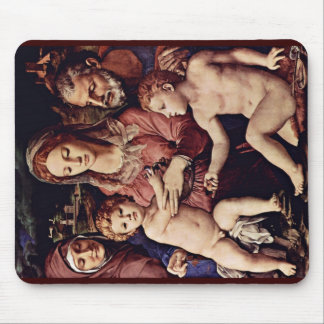 Holy Family With St. Anne And St. John The Baptist Mousepad
