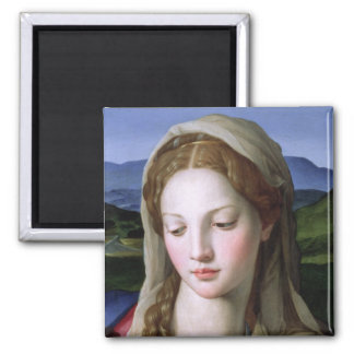 Holy Family with St. Anne and the infant St. John 2 Inch Square Magnet