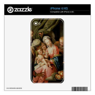 Holy Family with St. Anne Decals For iPhone 4