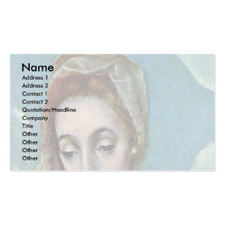 Holy Family With St Anne Detail By Greco El Double-Sided Standard Business Cards (Pack Of 100)