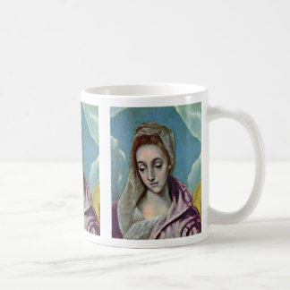 Holy Family With St Anne Detail By Greco El Classic White Coffee Mug