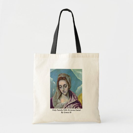 Holy Family With St Anne Detail By Greco El Tote Bag
