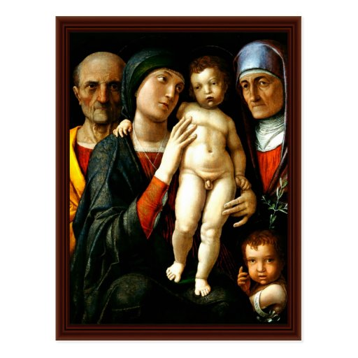 Holy Family With St. Elizabeth And St. John Boys Post Cards