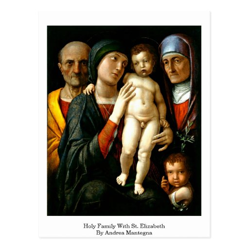 Holy Family With St. Elizabeth By Andrea Mantegna Post Card