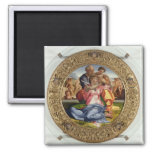Holy Family with St. John (Doni Tondo), 1504-05 (o 2 Inch Square Magnet