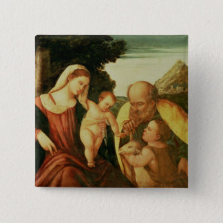 Holy Family with St. John Pinback Button