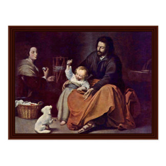 Holy Family With The Bird Postcard