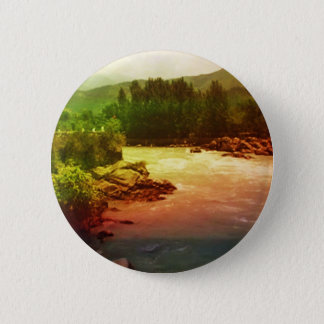Holy Ganga Ganges River North of Haridwar India Pinback Button