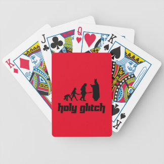Holy Glitch Bicycle Playing Cards
