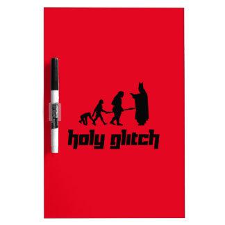 Holy Glitch Dry-Erase Board