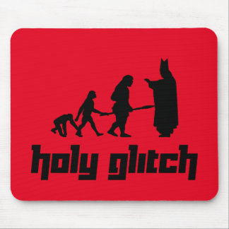 Holy Glitch Mouse Pad