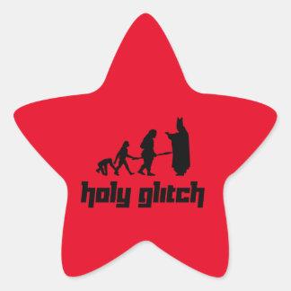 Holy Glitch Star Sticker
