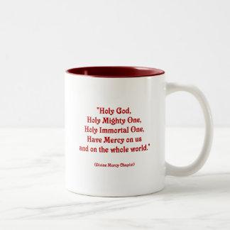 Holy God, Holy Mighty One, Holy Immortal One... Two-Tone Coffee Mug