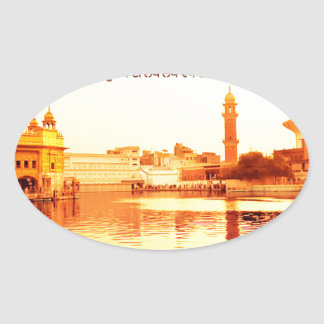 HOLY GOLDEN TEMPLE AMRISTAR INDIA OVAL STICKER