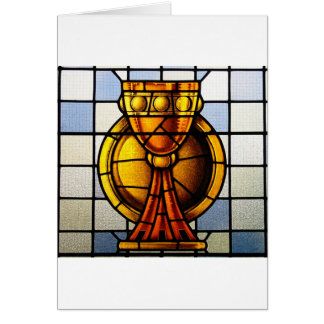 Holy Grail Stained Glass - Sacrament Card