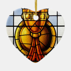 Holy Grail Stained Glass - Sacrament Ceramic Ornament at Zazzle