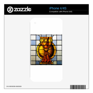 Holy Grail Stained Glass - Sacrament Decals For iPhone 4S