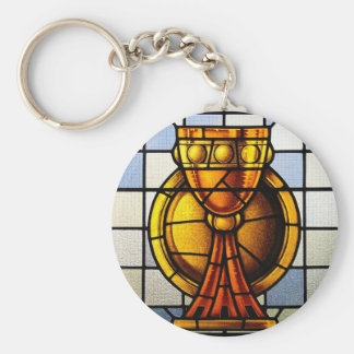 Holy Grail Stained Glass - Sacrament Keychain