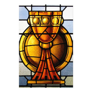Holy Grail Stained Glass - Sacrament Stationery