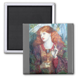 Holy Grail Woman & Chalice 2 Inch Square Magnet