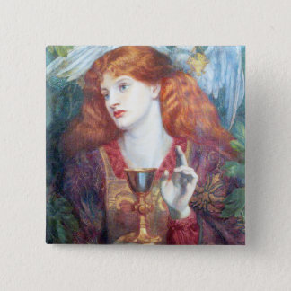 Holy Grail Woman & Chalice Button