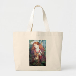 Holy Grail Woman & Chalice Large Tote Bag