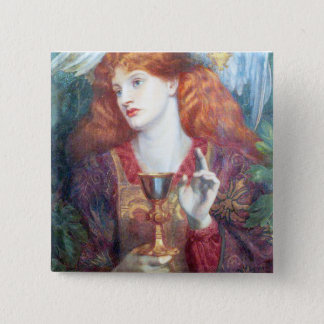Holy Grail Woman & Chalice Pinback Button