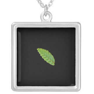 Holy Green Leaf Silver Plated Necklace