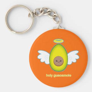 Holy Guacamole! Basic Round Button Keychain