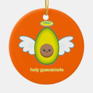 Holy Guacamole Ceramic Ornament