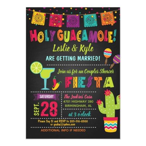 Holy Guacamole Fiesta Couples Shower Invitation