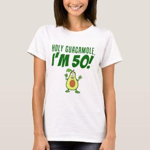 16f6794a8bfd2 Holy Guacamole I'm 50 Cartoon Avocado T-Shirt