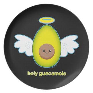 Holy Guacamole Melamine Plate