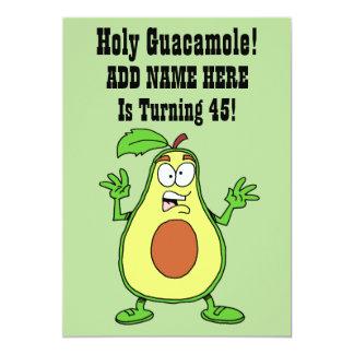 Holy Guacamole Someone Is Turning 45 Avocado Card
