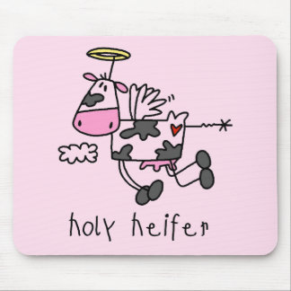 Holy Heifer Tshirts and Gifts Mouse Pad