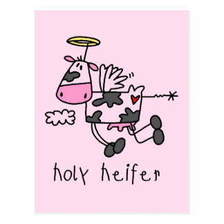 Holy Heifer Tshirts and Gifts Postcard